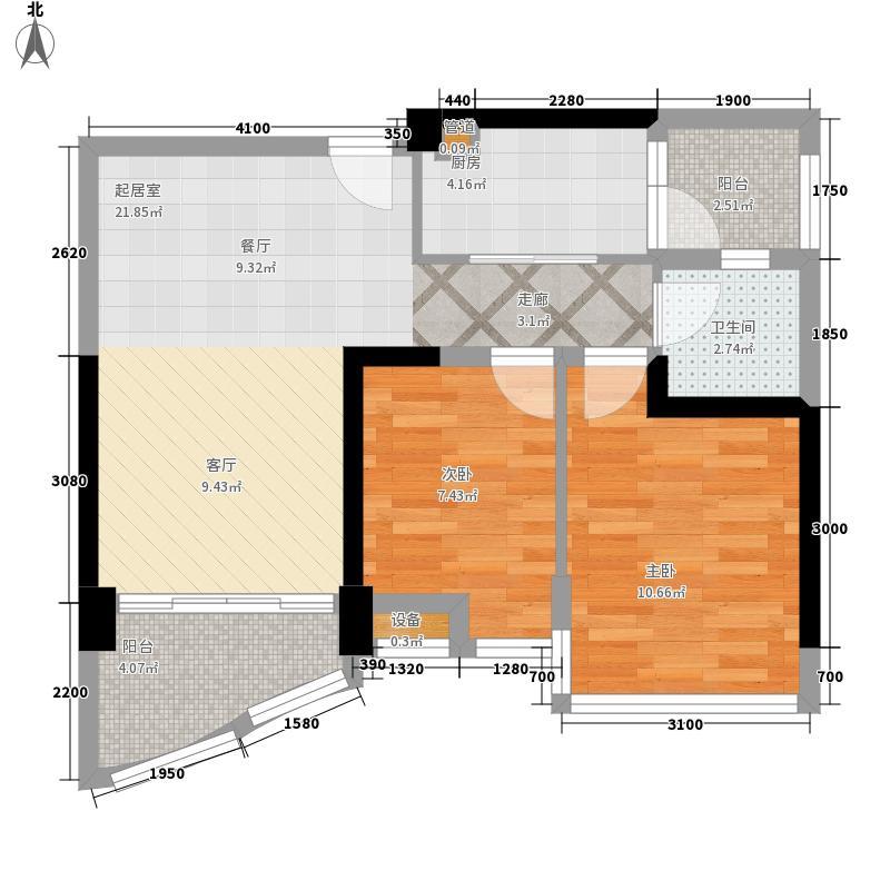碧桂园金沙滩72.55㎡J606洋房楼B户型