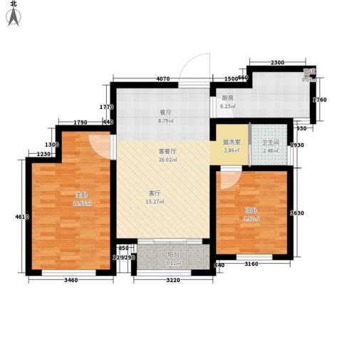 水佐岗48巷5号院2室1厅1卫1厨93.00㎡户型图