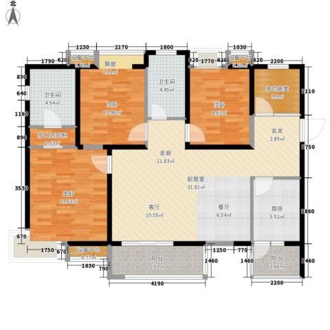 高山流水幸福快车3室0厅2卫1厨129.00㎡户型图