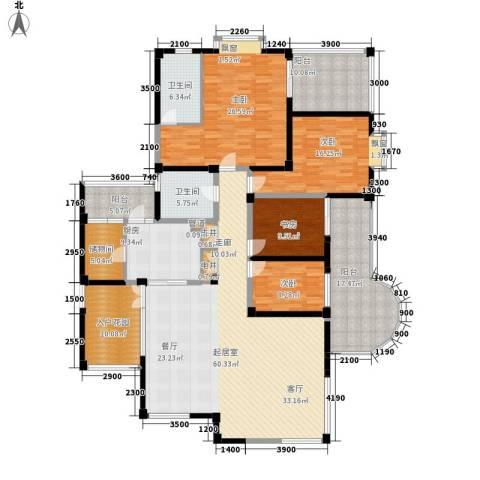 盛南领地4室0厅2卫1厨220.00㎡户型图