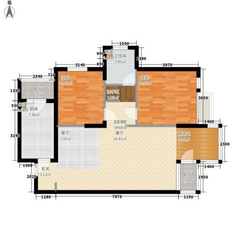 万科四季花城2室0厅1卫1厨116.00㎡户型图