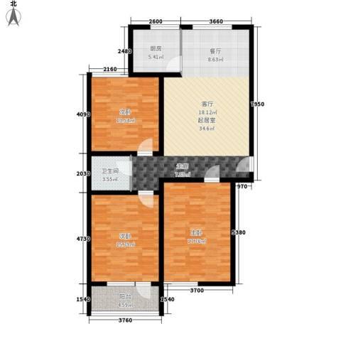 阳光小郡3室0厅1卫1厨108.00㎡户型图