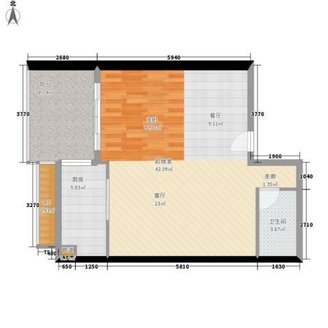 尚德大厦1卫1厨70.00㎡户型图