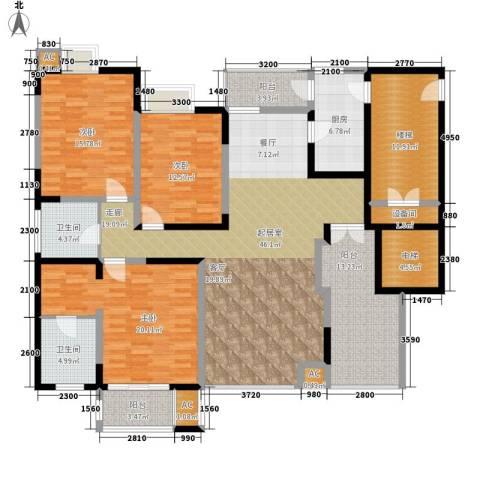 弘泽印象3室0厅2卫1厨162.00㎡户型图