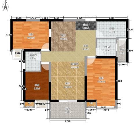 中海熙岸3室0厅2卫1厨122.00㎡户型图