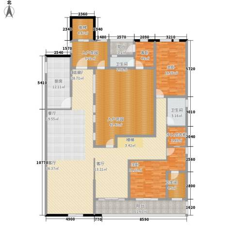 金地名京3室1厅3卫1厨294.00㎡户型图