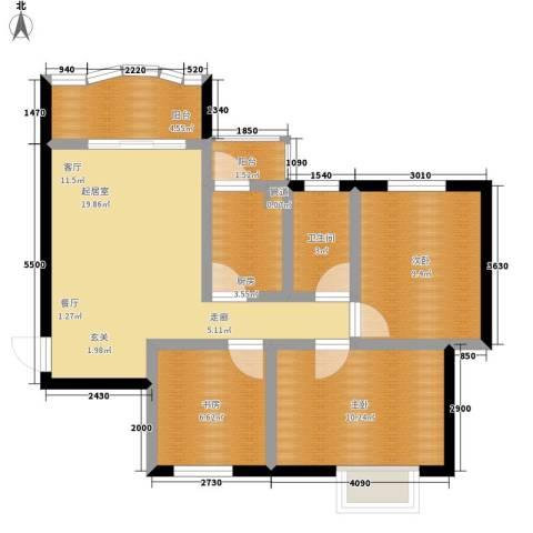 碧水秀城3室0厅1卫1厨97.00㎡户型图