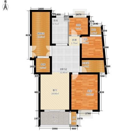 四季阳光花园3室0厅1卫1厨99.00㎡户型图