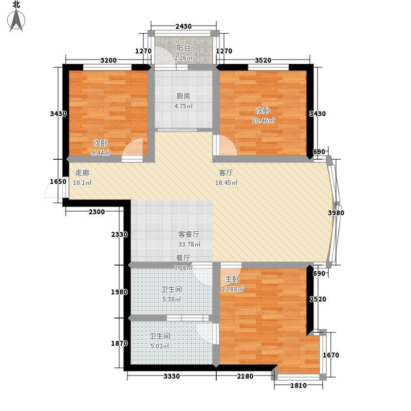 和谐家园127.90㎡1#2#F1279面积12794m户型