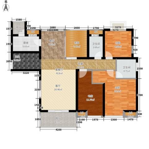 中海熙岸3室1厅2卫1厨129.25㎡户型图