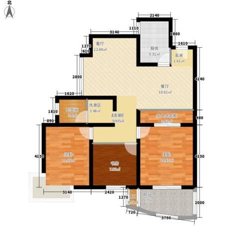 名仕嘉园3室0厅1卫1厨97.00㎡户型图