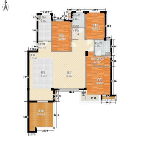 万科四季花城3室0厅2卫1厨173.00㎡户型图