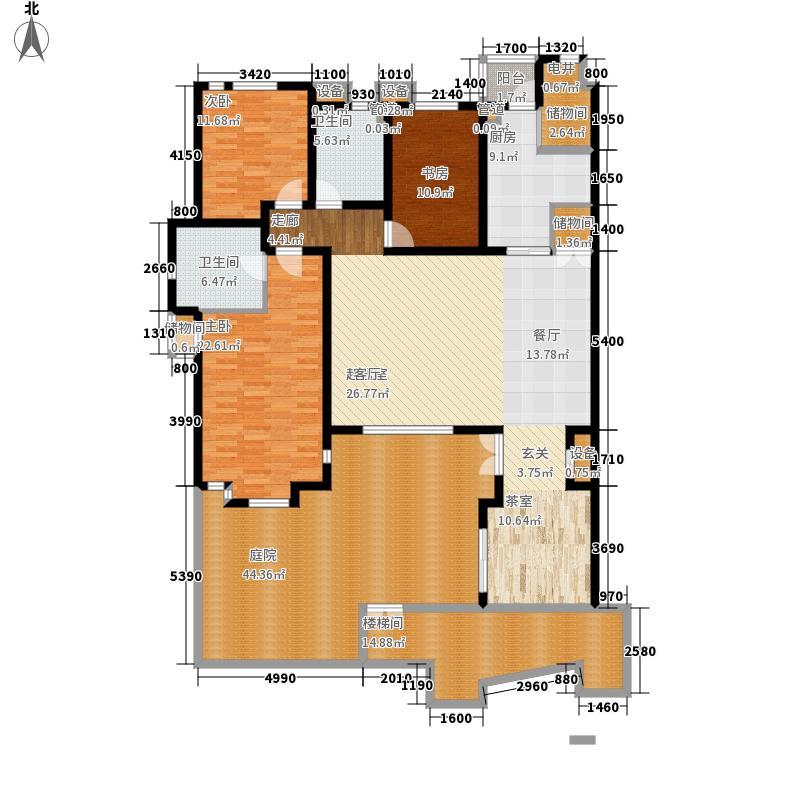 卓达太阳城阳光美墅145.52㎡风尚面积14552m户型