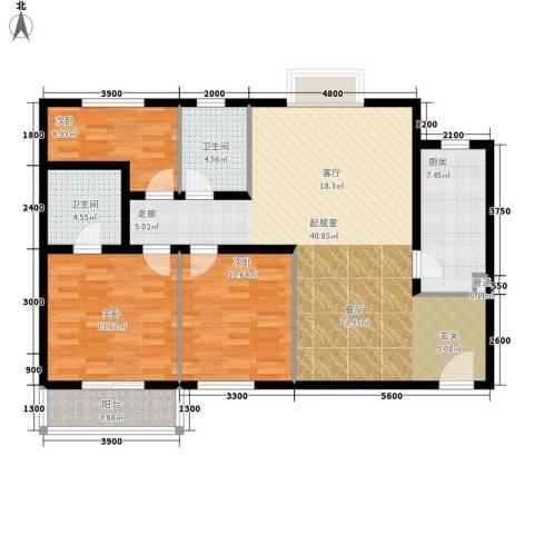 海荣豪佳花园3室0厅2卫1厨133.00㎡户型图