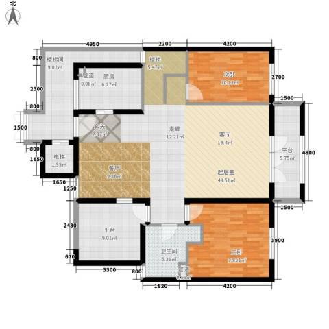 无庶2室0厅1卫1厨158.00㎡户型图
