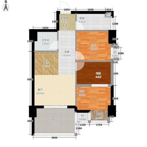 西铁小区3室0厅1卫1厨91.00㎡户型图