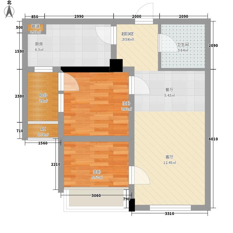 盛龙广场71.37㎡1、4号楼B户型