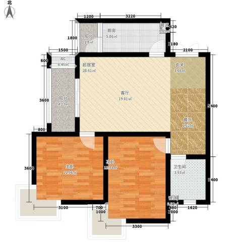 祥和雅居2室0厅1卫1厨80.34㎡户型图