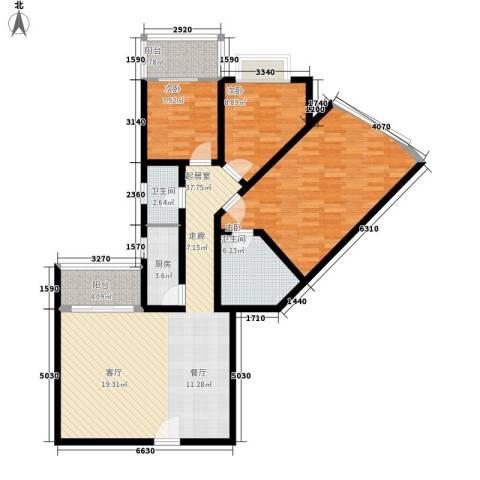 东海嘉园3室0厅2卫1厨112.00㎡户型图