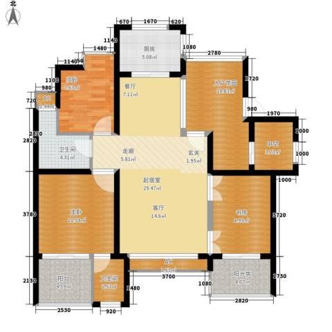 翠屏紫气钟山3室0厅2卫1厨111.00㎡户型图