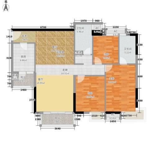 云景名都3室0厅2卫1厨119.00㎡户型图