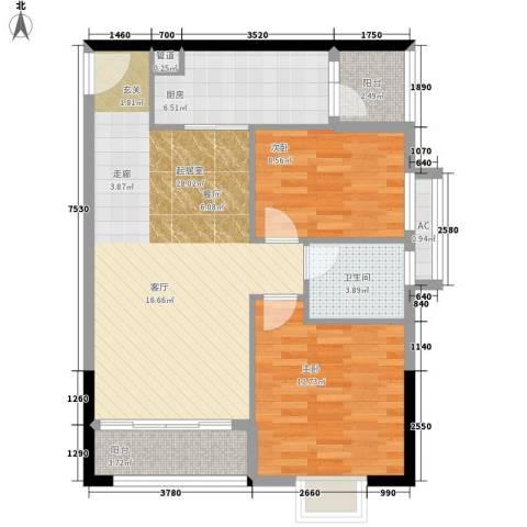 云景名都2室0厅1卫1厨96.00㎡户型图