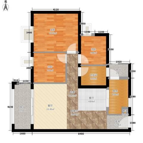 半山雍景苑3室1厅1卫1厨85.00㎡户型图