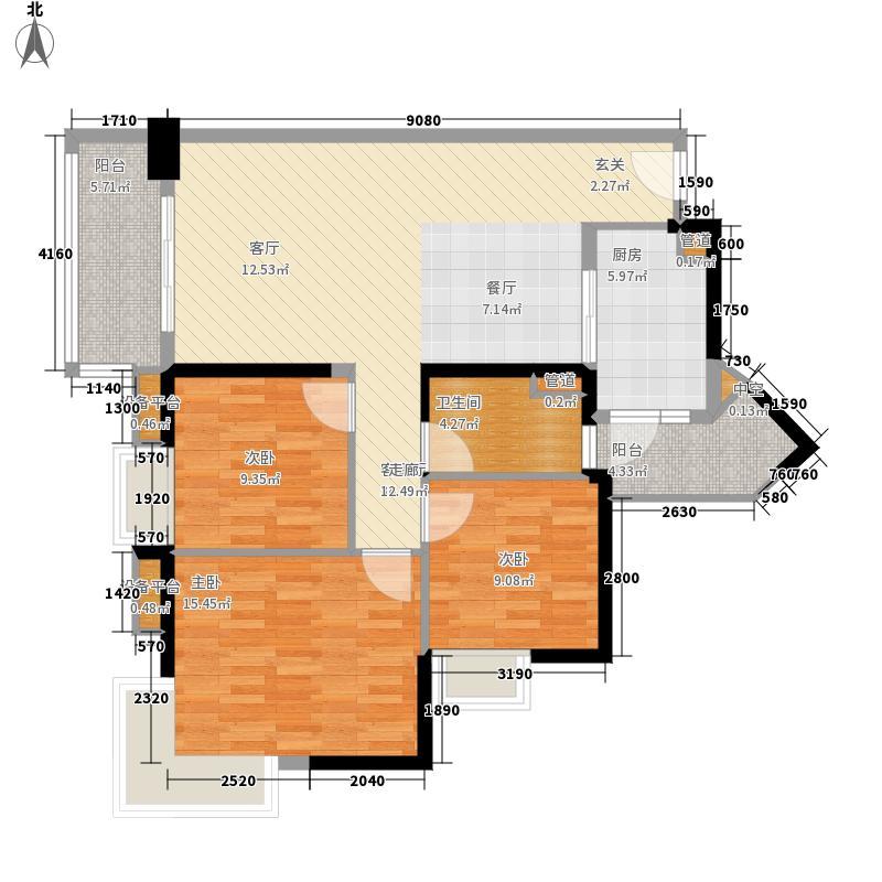 中海金沙湾102.64㎡A16栋5-27层0面积10264m户型