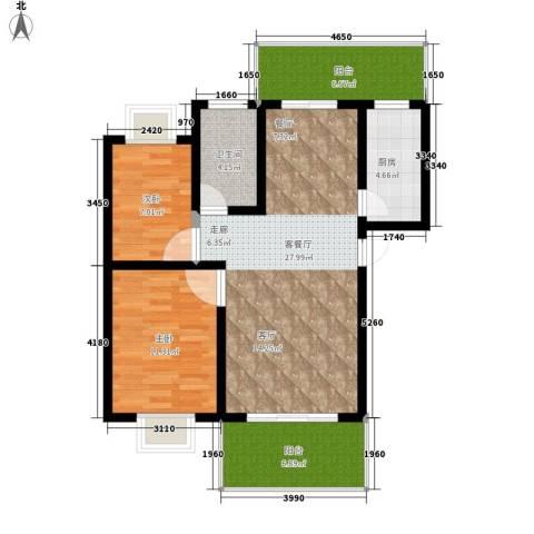 紫薇苑2室1厅1卫1厨79.00㎡户型图