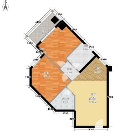金水大厦2室0厅1卫1厨90.00㎡户型图