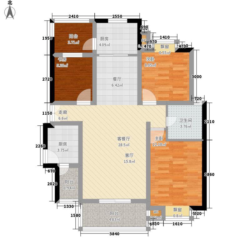 居礼118.66㎡卖完面积11866m户型