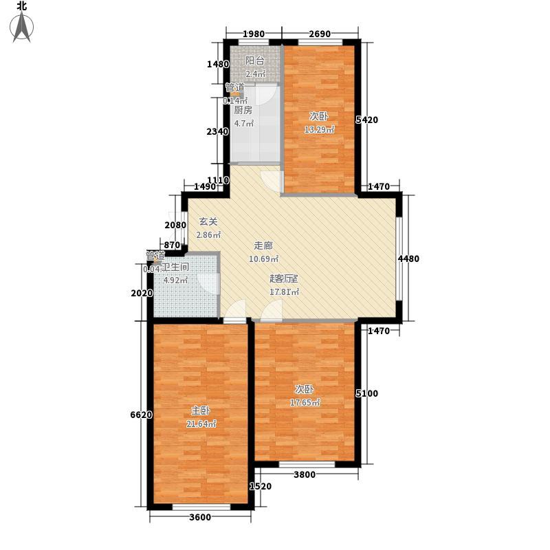 学府经典中天城E1户型3室1厅