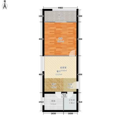 橡树星座1室0厅1卫1厨59.00㎡户型图
