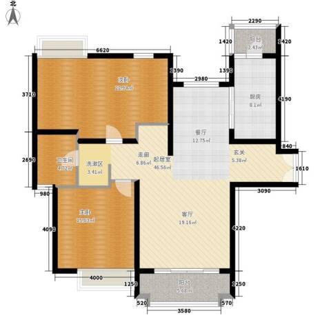 中海瀛台2室0厅1卫1厨118.00㎡户型图