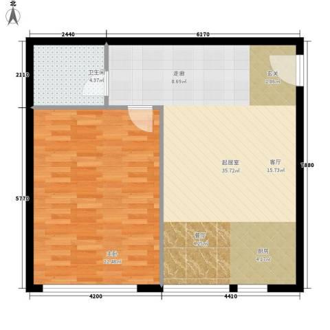 橡树星座1室0厅1卫0厨68.00㎡户型图