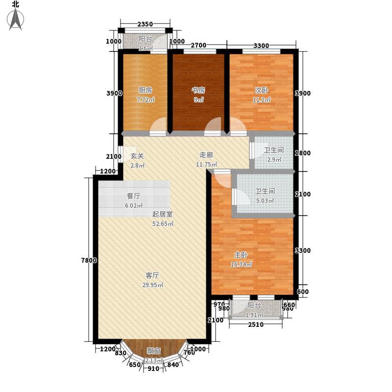 泰和尚都132.87㎡泰和尚都户型图四室两厅两卫(3/7张)户型10室