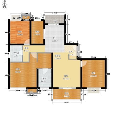 欧风花都3室0厅2卫1厨150.00㎡户型图
