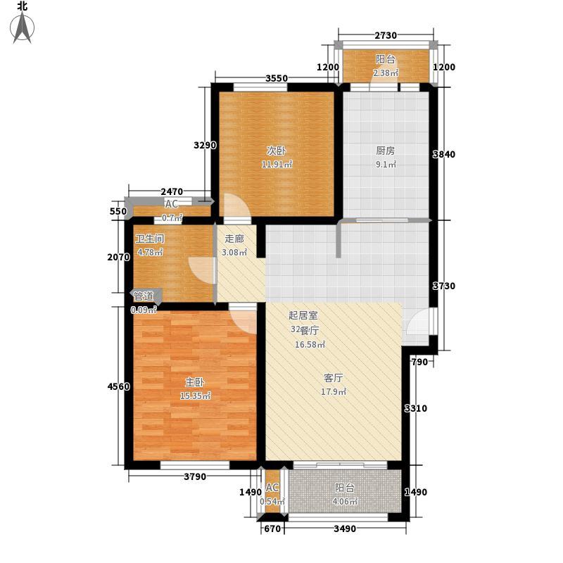 绿地崴廉公寓90.00㎡C4面积9000m户型