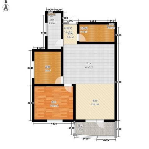 平安万和园2室0厅1卫1厨119.00㎡户型图