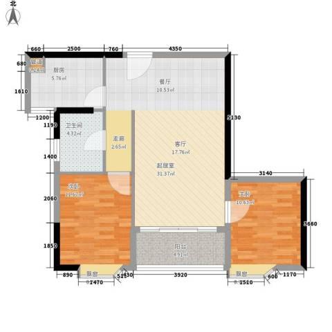 赛拉维2室0厅1卫1厨78.00㎡户型图