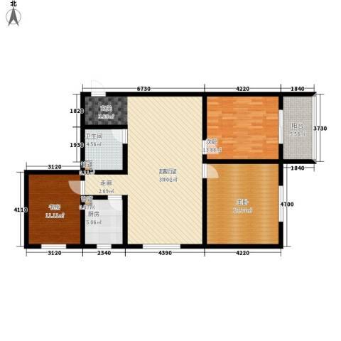 置嘉公寓3室0厅1卫1厨112.00㎡户型图