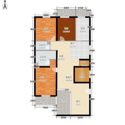景润花园3室1厅2卫1厨172.00㎡户型图