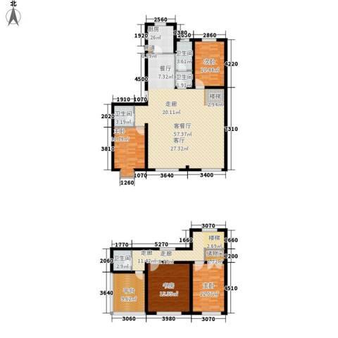 中阳信和水岸4室1厅4卫1厨216.00㎡户型图