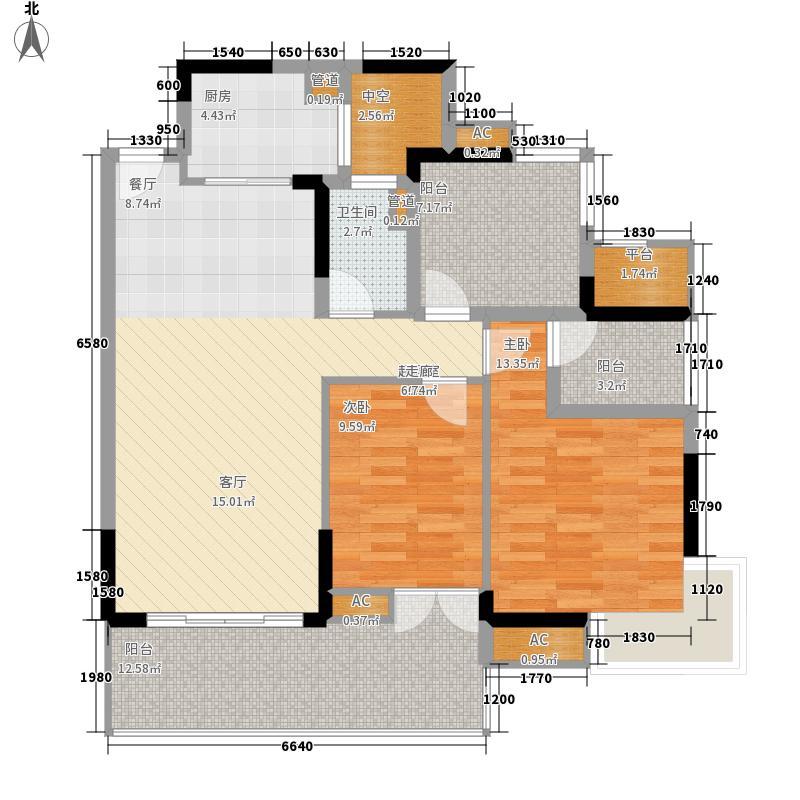 君源御湖城103.93㎡F2栋02单元2室户型