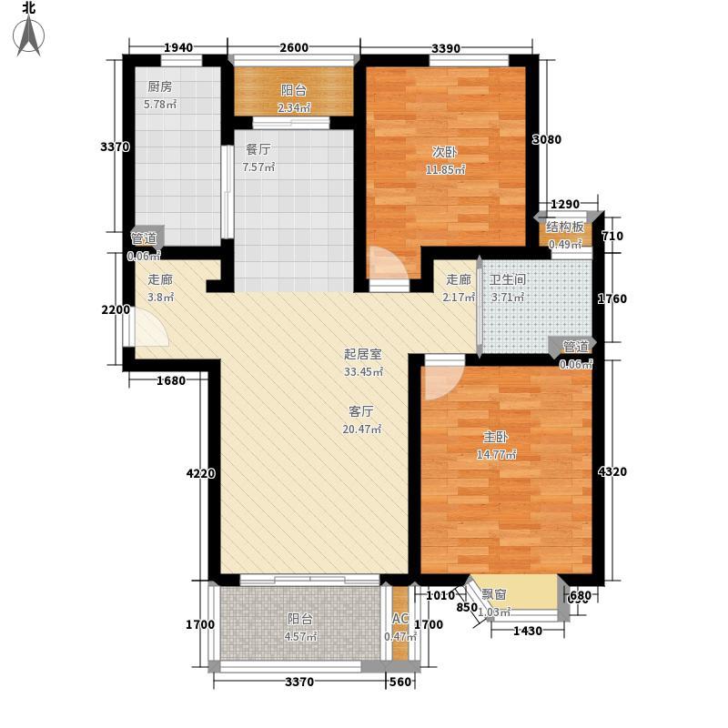 绿地崴廉公寓90.00㎡2期水中央C7面积9000m户型