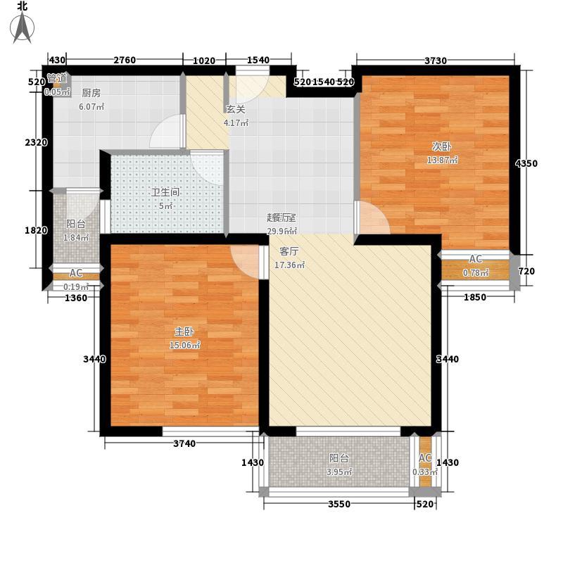 绿地崴廉公寓B2a户型