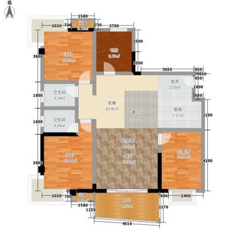 上东莱克辛顿4室0厅2卫0厨141.00㎡户型图