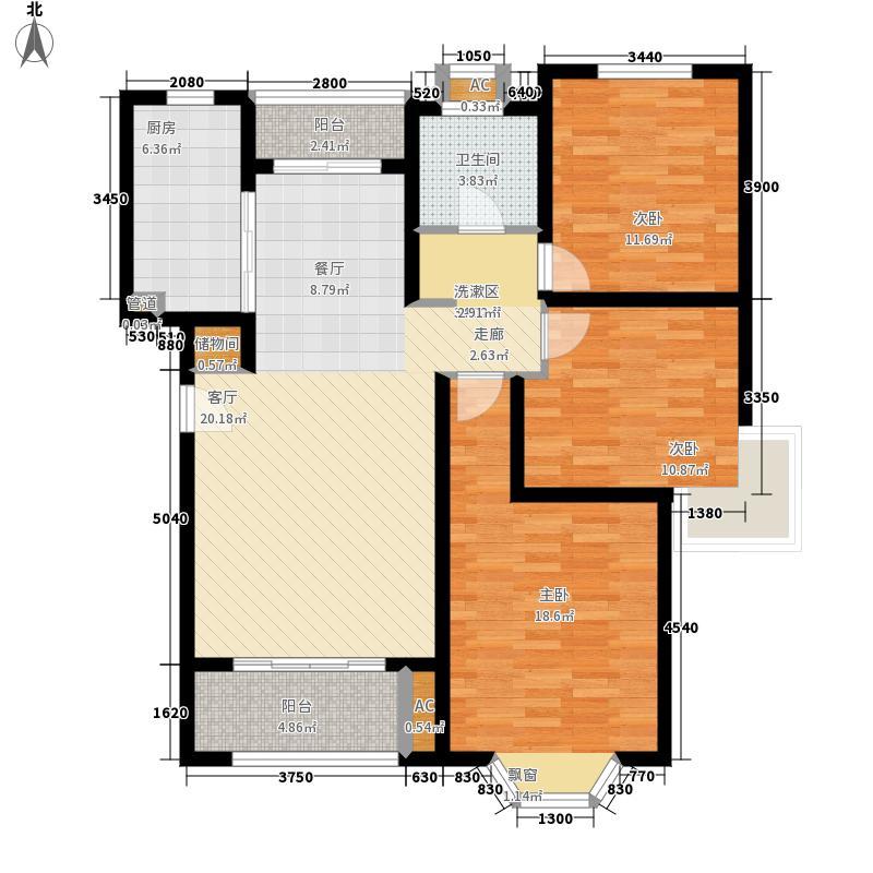 绿地崴廉公寓108.99㎡一期d2面积10899m户型