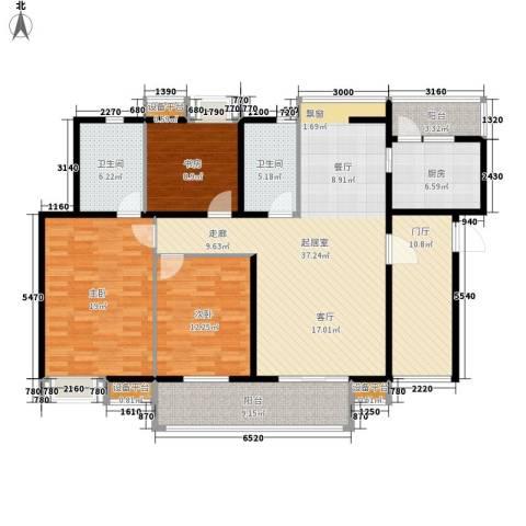 高山流水幸福快车3室0厅2卫1厨136.00㎡户型图