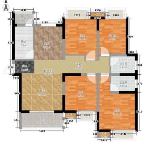 双维花溪湾4室0厅2卫1厨139.00㎡户型图